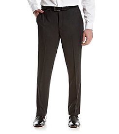 REACTION Kenneth Cole Men's Charcoal Pin Dot Slim-Fit Suit Separates Flat Front Pants