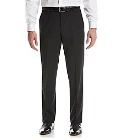 REACTION Kenneth Cole Men's Black Stripe Suit Separates Flat Front Pants