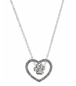 Pet Friends™ Silvertone Heart Pendant Necklace