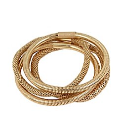 Kenneth Cole® Goldtone Mesh Stretch Bracelet Set
