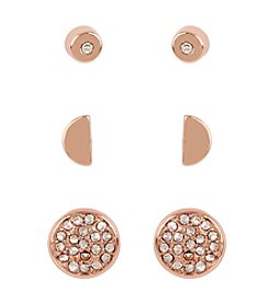 Kenneth Cole® Goldtone Pave Disc Stud Earrings Set