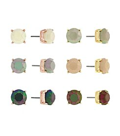 Jessica Simpson Two Tone Six Pack Stud Earrings Set
