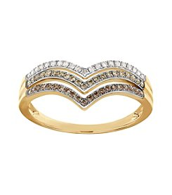 0.25 Ct. T.W. Diamond Ring In 10k Yellow Gold