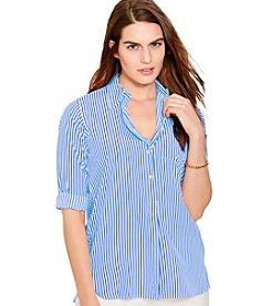 Lauren Ralph Lauren® Plus Size Printed Crepe Shirt