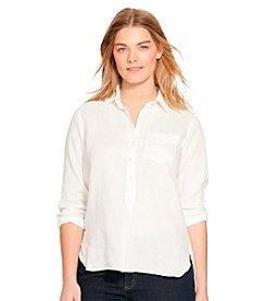 Lauren Ralph Lauren® Plus Size Linen Shirt
