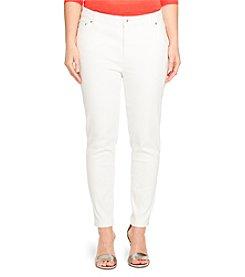 Lauren Ralph Lauren® Plus Size Cropped Premium Skinny Jeans