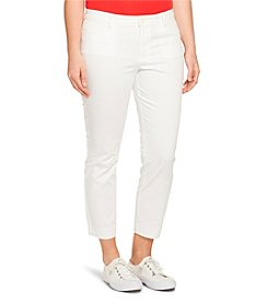 Lauren Ralph Lauren® Plus Size Cotton Sateen Skinny Pants