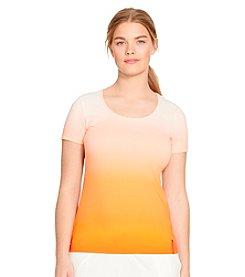 Lauren Active® Plus Size Ombre Stretch Cotton Tee