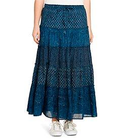 Lauren Jeans Co.® Plus Size Tiered Cotton Gauze Maxi Skirt