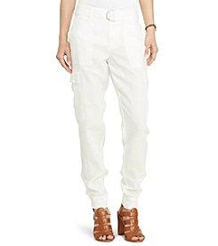 Lauren Ralph Lauren® Petites' Linen Cargo Pants