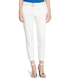 Lauren Ralph Lauren® Petites' Cotton Sateen Skinny Pants
