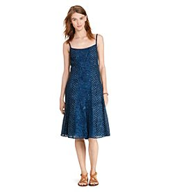 Lauren Jeans Co.® Petites' Gauze Fit-And-Flare Dress