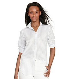 Lauren Ralph Lauren® Petites' Striped Cotton Shirt