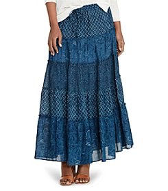 Lauren Jeans Co.® Tiered Cotton Gauze Maxi Skirt