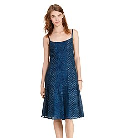 Lauren Jeans Co.® Gauze Fit-And-Flare Dress