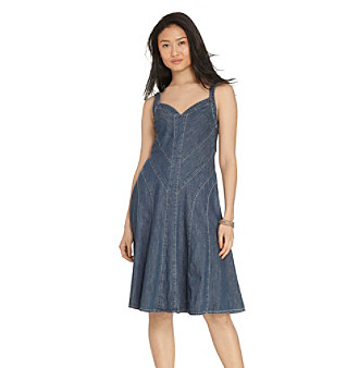 Lauren Jeans Co.® Denim Fit-And-Flare Dress
