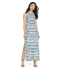 Lauren Jeans Co.® Striped Linen Maxi Dress