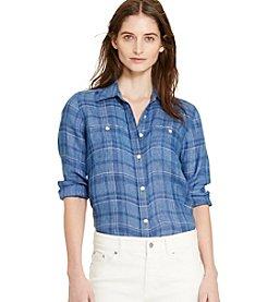 Lauren Jeans Co.® Plaid Linen Shirt