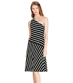 Lauren Ralph Lauren® Striped One-Shoulder Dress