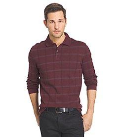 Van Heusen® Men's Jasper Windowpane Long Sleeve Polo