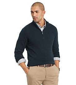 Van Heusen® Men's Blocked Rib Long Sleeve 1/4 Zip Sweater
