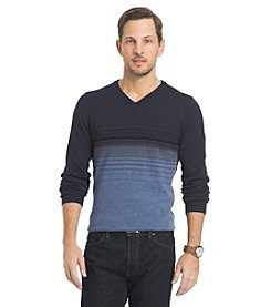 Van Heusen® Men's Stripe V-Neck Long Sleeve Sweater
