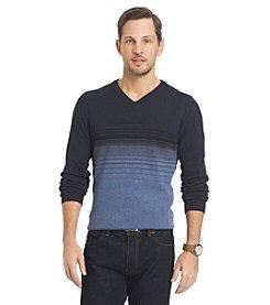 Van Heusen® Men's Stripe V-Neck Long Sleeve Sweater