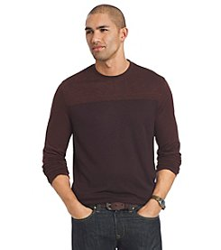 Van Heusen® Men's Long Sleeve Night Crew Doubler Sweater