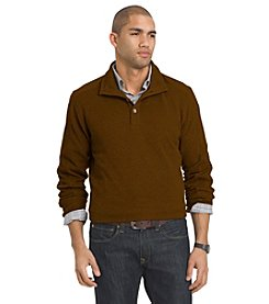 Van Heusen® Men's Long Sleeve Button Mock Neck Sweater
