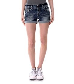 Wallflower® Stripe Bling Pocket Jean Shorts