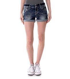 Wallflower® Stripe Bling Pocket Jean Shorts