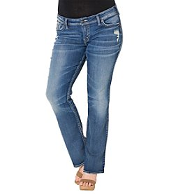 Silver Jeans Co. Plus Size Destructed Bootcut Jeans