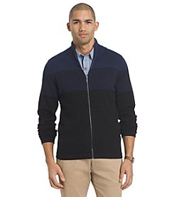 Van Heusen® Men's Blocked Full Zip Long Sleeve Sweater