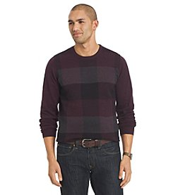Van Heusen® Men's Plaid Crew Neck Sweater