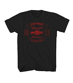 Mad Engine Men's Chevy Bowtie Banner Short Sleeve Tee