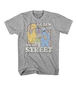 Mad Engine Men's Sesame Street Wise Short Sleeve Tee