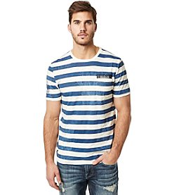 Buffalo by David Bitton Men's Striped Pearl Short Sleeve Tee