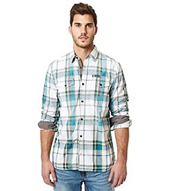 Buffalo by David Bitton Men's Salip Plaid Long Sleeve Button Down Shirt