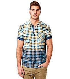 Buffalo by David Bitton Men's Short Sleeve Sulpher Plaid Button Down Shirt