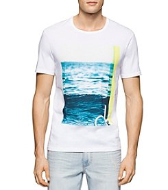 Calvin Klein Jeans® Men's White Wave Short Sleeve Tee