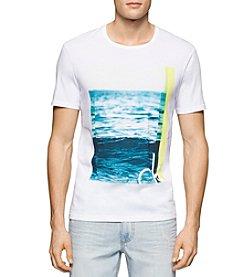 Calvin Klein Jeans® Men's White Wave Short Sleeve Tee