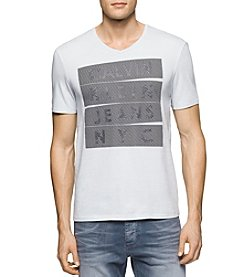Calvin Klein Jeans® Men's Air Stacked Logo Short Sleeve Tee