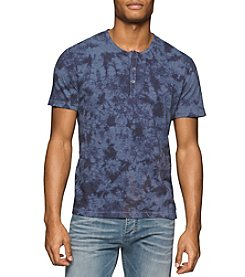 Calvin Klein Jeans® Men's Tie Dye Short Sleeve Henley Tee
