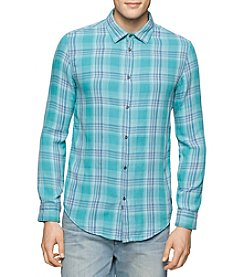 Calvin Klein Jeans® Men's Plaid Long Sleeve Button Down Shirt