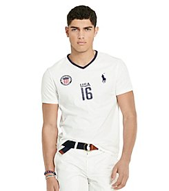 Polo Ralph Lauren® Men's Custom-Fit USA V-Neck Tee