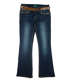 Lee® Girls' 7-16 Heavystitch Belted Flare Jeans