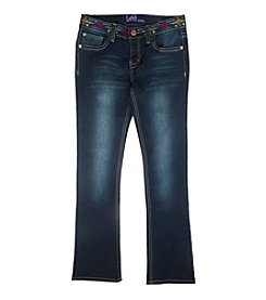 Lee® Girls' 7-16 Embroidered Waist Bootcut Jeans