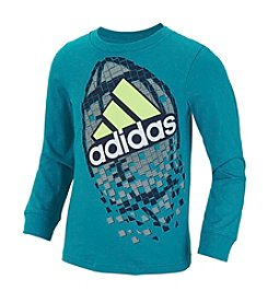 adidas® Boys' 2T-7 Long Sleeve Pixel Football Active Tee
