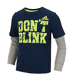 adidas® Boys' 2T-7 Long Sleeve Don't Blink Active Layered Tee