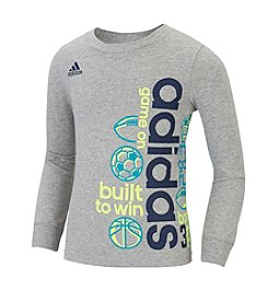 adidas® Boys' 2T-7 Long Sleeve Linear Active Tee